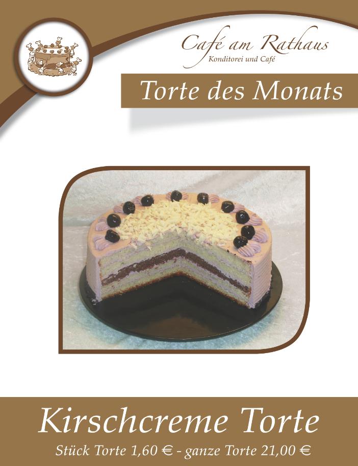 Kirschcreme Torte Cafe Am Rathaus