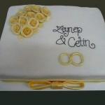 Hochzeitstorte Augsburg Gold Rosen Ringe