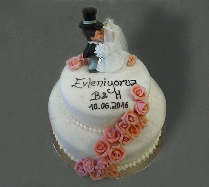 Hochzeitstorte Brautpaar