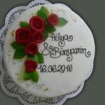 Hochzeitstorte Gersthofen Rund mit Rosen