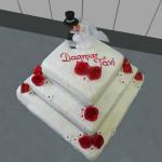 Hochzeitstorte 4 Stock Eckig mit Brautpaar