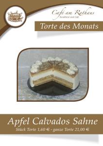 Apfel Calvados Sahne